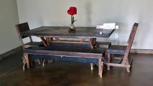 man cave table and chairs built this rustic barn wood table chairs and benches for a man