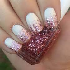 easy nail art glitter 19 easy nail polish designs with two colors 27 lazy girl nail art