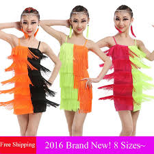 kids samba robe danse latine kids samba costumes girl standard tassel