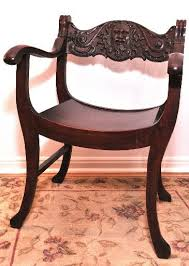 Savanarola Chair Family Heirloom A Carved Oak Savonarola Inspired Armchair Is