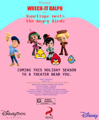 wreck ralph vanellope meets angry birds wreck