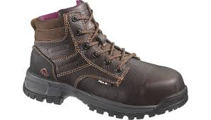 womens work boots wolverine piper womens 6 inch waterproof work boot w10182