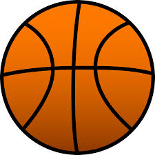 background clipart basketball pencil and in color background