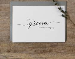 card to groom from on wedding day wedding day card etsy