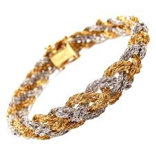 piaget bracelet piaget woven braided yellow and white gold bracelet at 1stdibs