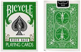 bicycle deck green back co uk toys