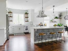 what backsplash looks with cherry cabinets white kitchen remodel from cherry to bright white