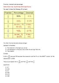 fractions and percentages worksheet koogra