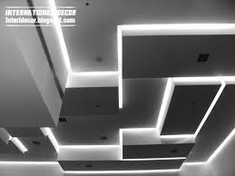 False Ceiling Design For Drawing Room Modern Open Space Living Room Design Lighting Ideas Cool Led False