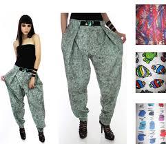 vintage inspired pants vintage 80s 90s harem zubaz