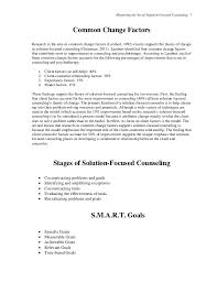 mastering the art of solution focused counseling handouts