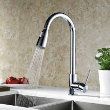 Refin Kitchen Tap Solid Brass Pull Down Spray Kitchen Sink Taps - Brass kitchen sink