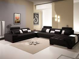 Contemporary Black Leather Sofa Furniture Contemporary Black And White Leather Sofa With Glass