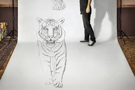 3d artist ben heine walks with a tiger and gets held up by a gun