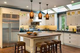 a family kitchen makeover includes skylights