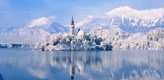 lake bled winter cing at lake bled slovenia weekadvisor com