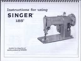 singer model 185 sewing machine instruction manual u2022 14 95 picclick
