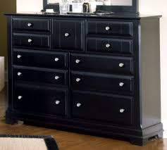 All Bedroom Furniture American Cottage Collection 9 Drawer Triple Dresser In Black