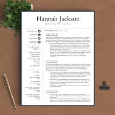 professional resume template the hannah u2013 landed design solutions
