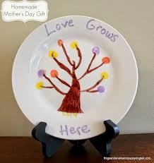 homemade mother u0027s day gift fingerprint tree plate fspdt