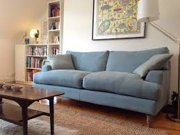 lucy u0027s isla sofa in lagoon brushed linen cotton looking neat and
