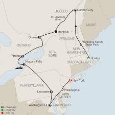 Us New York Map by New York Washington Dc U0026 New England Tours Globus