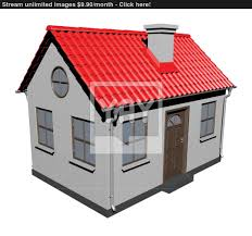 small house with red roof vector yayimages com of idolza