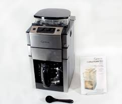 Coffee Maker With Grinder And Thermal Carafe Capresso Coffee Team Pro Glass Jeffs Reviews
