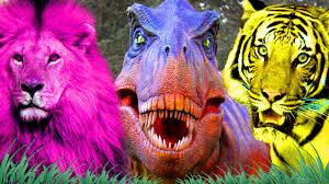 dinosaur cartoons for children color lion nursery rhymes