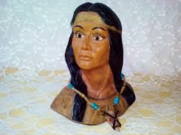 native american indian tribal princess bust vintage squaw