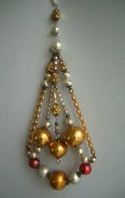 antique fancy glass beaded ornament gablonz