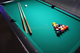 how to set up a pool table a pool table set up for a game stock photo image of action