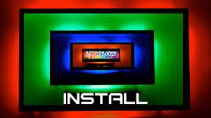 home theater backlighting ledglow led tv backlighting install youtube