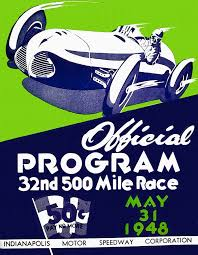 auto painting 1948 vintage indy 500 program by john farr