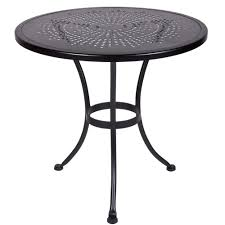 Ow Lee San Cristobal by Ow Lee Bistro 30 Inch Round Stamped Metal Dining Table 30 Su