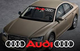 audi windshield product audi windshield window front decal 2 sticker for a4 a5
