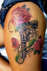 20 gun tattoo designs for women thigh tattoo designs tattoo
