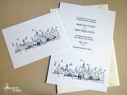 wedding invitations nyc new york skyline wedding invitations architette studios