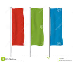 colorful vertical banner flag vector templates stock vector