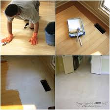 remodelaholic high style low cost painted and stenciled floor