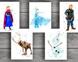 frozen art print etsy