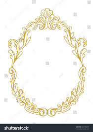 golden frame ornaments gold pictures mirror stock vector 456728455