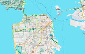 Marin Map Bike To Work With Mapzen U0027s Updated Bike Map Mapzen