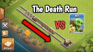 amazing clash of clans super the death run super goblin i bet 50 you won u0027t believe the