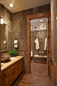 bathroom styles rustic style with wooden wainscoting and furniture