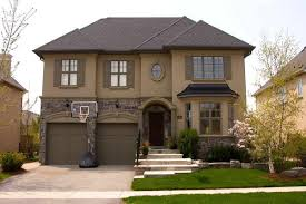 stone for houses with wall color brown exteriors pinterest