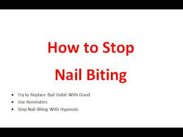 how to stop nail biting youtube