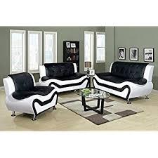 black livingroom furniture us pride furniture 2 modern bonded leather sofa