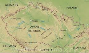 geographical map of germany czechia physical map