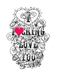 coloring page valentine u0027s day curse swear sheet